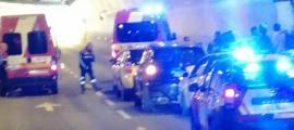 Un quart accident en dos dies torna a tancar el túnel de la Tàpia