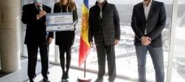 Entrega del donatiu al Centre de Tecnificació d'Ordino. Foto: SFGA / C. Esteve