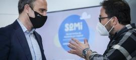 Alain Cabanes i Tomàs Navarro, durant la presentació del projecte.