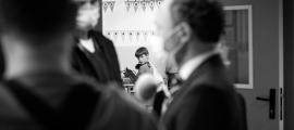 Xavier Espot, en les declaracions efectuades durant la visita a l'escola andorrana de Canillo.