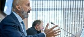 El ministre de Salut, Joan Martínez Benazet, en la compareixença d'aquesta tarda al Consell General.