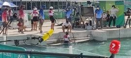 Mònica Doria, en finalitzar la prova de C1 als Jocs.