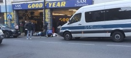 L'accident d'aquest matí a l'avinguda de Santa Coloma.