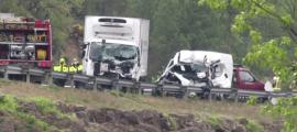 L'accident va tenir lloc al quilòmetre 140 de la C-14.