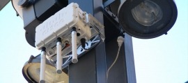 Una antena de wifi públic.