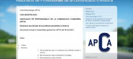 L'APCA ha actualitzat el codi deontològic per adequar-lo als nous temps.