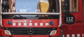 Els bombers van realitzar el rescat amb mitjans terrestres