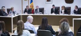Una sessió de consell de comú d'Andorra la Vella.