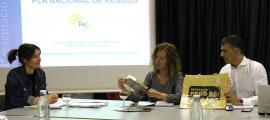 ANA/La ministra de Medi Ambient, Agricultura i Sostenibilitat, Sílvia Calvó, en una reunió de la Comissió Nacional de Residus.