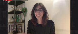 Cristina Royo durant l'entrevista d'ahir al vespre al programa FAQS de TV3.
