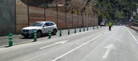 Els vehicles ja circulen pels carrils habituals a la zona de l'esllavissada