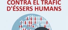 Cartell sobre el Dia mundial contra el tràfic d'éssers humans.