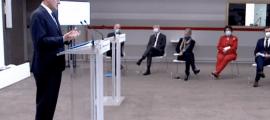 Castex i els seus ministres en moment de la roda de premsa d'aquest dijous.