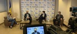 Un instant del debat organitzat per la CEA i BancSabadell.