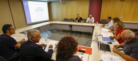 Un moment de la reunió de la Comissió de seguiment de la caça d'ahir.