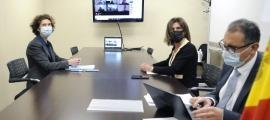 Un moment de la reunió del comitè bilateral Fulbright.