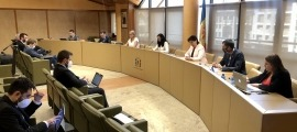 Un moment de la sessió del consell del Comú de la Massana d'aquest matí.