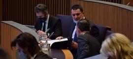 El ministre de Presidència, Economia i Empresa, Jordi Gallardo, durant la sessió de Consell General.