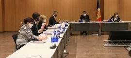 Els consellers de PS+I en una sessió del consell de comú.