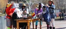 Un instant del 'Judici dels contrabandistes' a Prat de Call.