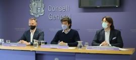 Ferran Costa, Carles Enseñat i Carles Naudi han presentat aquest matí la proposta d'acord de pacte d'Estat per a les pensions.