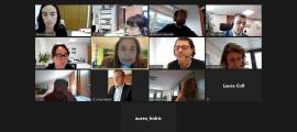 Un instant de la reunió de la comissió.