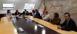 El moment de presentació de la llista d'En Comú per Andorra la Vella.