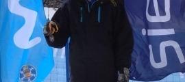 Mario Da Cruz, al podi de Sierra Nevada. Foto: FAE