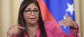La vicepresidenta de Veneçuela, Delcy Rodríguez.