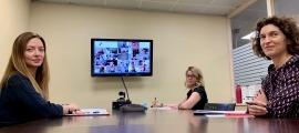 Un moment de la reunió telemàtica.