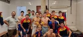 El Seat Andorra Hoquei Club, a Juneda. Foto: Twitter