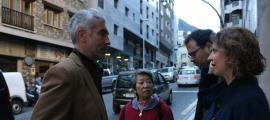 Marc Magallón i Rosa Gili van estar ahir a l'avinguda Fiter i Rossell.