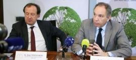 Joan Tomàs, secretari de l'Efa (a l'esquerra), en un acte recent.