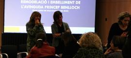 La cònsol major d'Andorra la Vella, Conxita Marsol, amb la consellera de Social i Participació Ciutadana, Ester Vilarrubla.