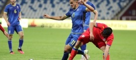Valmir Veliu, de la selecció sub-21 de Kosovo. Foto: Federata e Futbollit e Kosovës