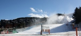 Una de les pistes d'esquí a la Molina.