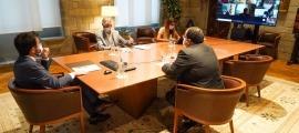 Reunió extraordinària de la comissió delegada en matèria de Covid, aquesta tarda.