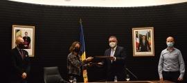 La signatura de l'addenda al conveni per tirar endavant la nova xarxa de calor i fred de FEDA.