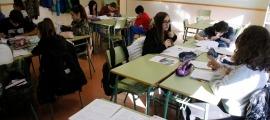 Alumnes en una classe.