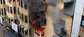 L'incendi es va declarar dissabte al segon pis del número 55 de l'avinguda Carlemany d'Escaldes.
