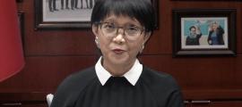 La ministra d'Afers Exteriors d'Indonèsia, Retno Marsudi,