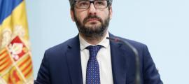 El ministre portaveu, Eric Jover, durant una de les compareixences.