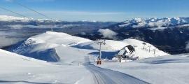 Vista de les pistes d'esquí de La Molina.