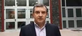 Josep Majoral al Centre esportiu.