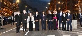 Els mandataris que van participar presencialment en la Cimera a l'arribada a Soldeu.