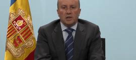 Josep Maria Rossell, durant la seva intervenció telemàtica al Congrés de Nacions Unides.