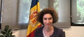 La ministra d'Afers Exteriors, Maria Ubach, durant la reunió.