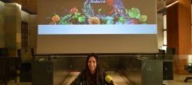 La cònsol menor i consellera de Cultura, Eva Choy, durant la presentació de la 29a Mostra Gastronòmica d'Andorra.