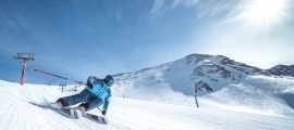 Un esquiador a Grau Roig.