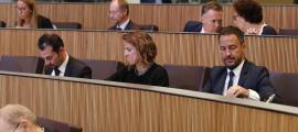 Els tres parlamentaris del PS en una sessió del Consell General.